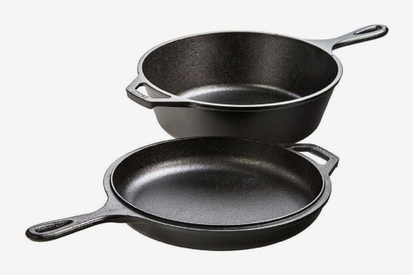 Lodge Cast-Iron Combo (3-Qt. Cooker and Skillet)