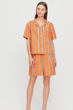 Marimekko Washed Cotton Open Collar Shirt