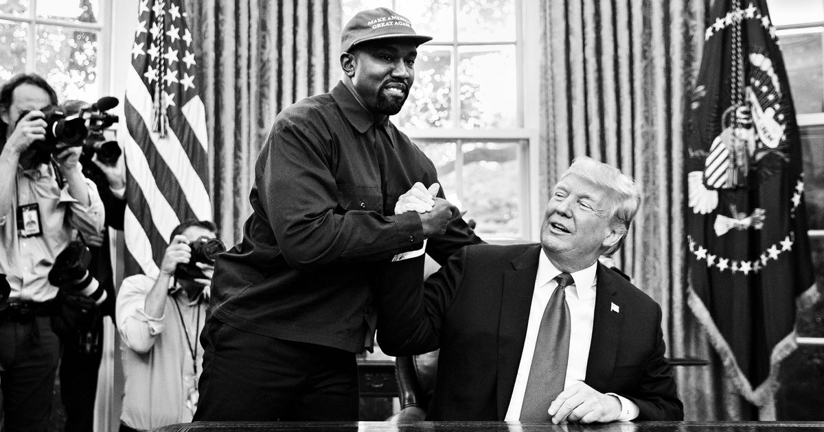 Kanye's Psychic-Nightmare Visit To The White House