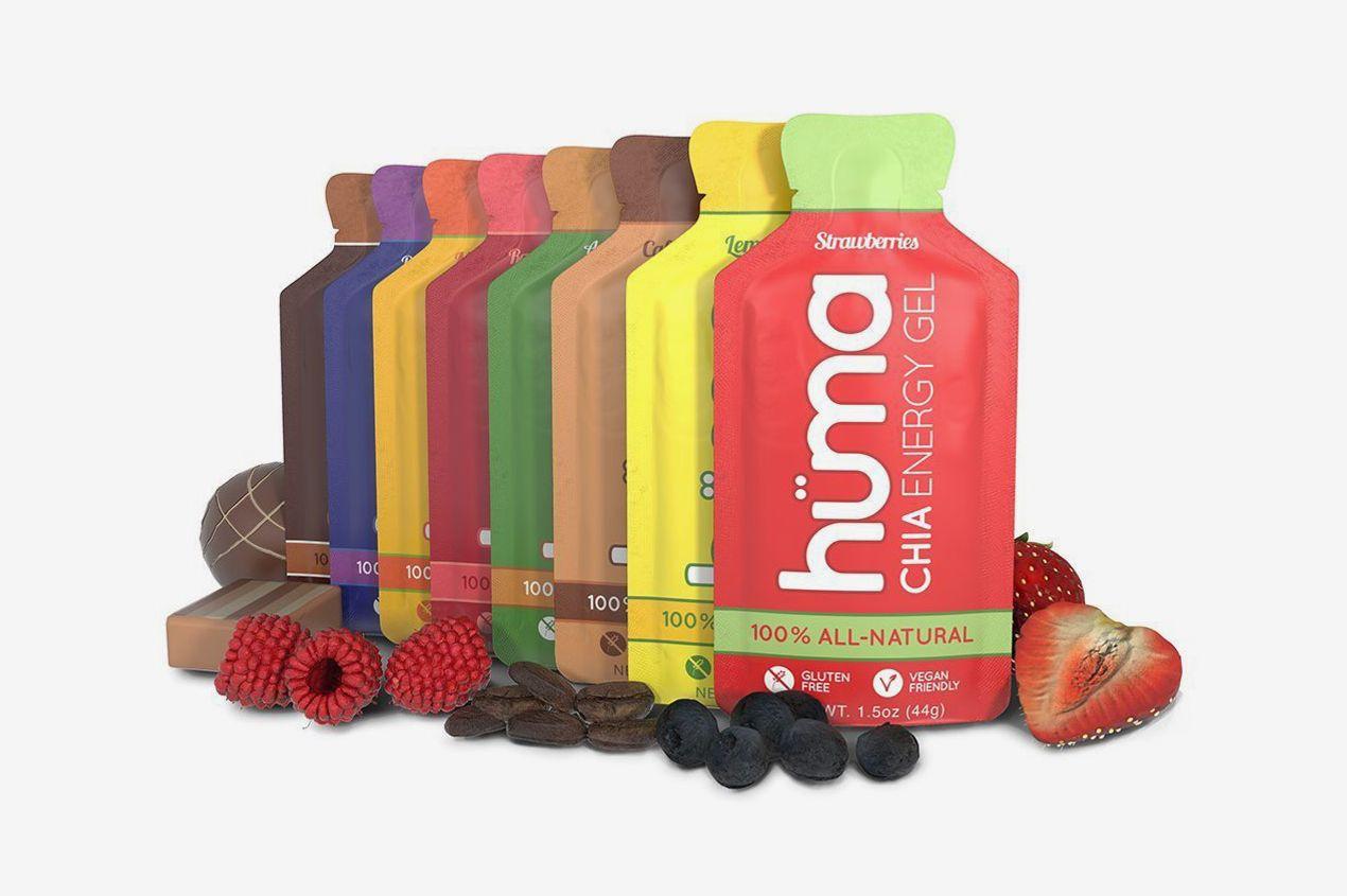 Huma Chia Energy Gel, Variety Pack, 12 Gels