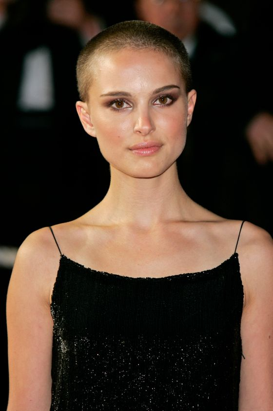 "Natalie Portman shaved her head to play an anarchist in the 2005 film <i>V for Vendetta</i>, then kept it that way for several months. Portman <a href=""http://usatoday30.usatoday.com/life/movies/news/2006-03-14-portman_x.htm"">called her new haircut</a> ""pretty fun"" and used her new, slightly more badass image to great effect when she <a href=""http://www.youtube.com/watch?v=v8e6-IeQ0aw"">parodied herself on SNL</a> in a skit called ""Natalie Raps."" Her short hair allowed her both to lampoon her good-girl reputation and to defy it believably."