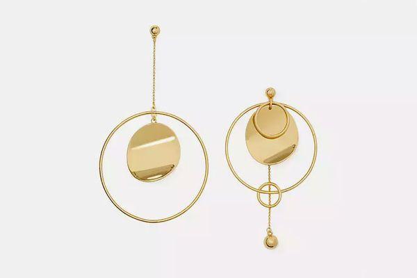 Gold Standard Asymmetrical Earrings