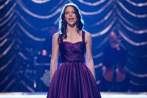 "GLEE: Marley (Melissa Benoist) performs at Regionals in the ""All Or Nothing"" season finale episode of GLEE airing Thursday, May 9 (9:00-10:00 PM ET/PT) on FOX. ©2013 Fox Broadcasting Co. CR: Adam Rose/FOX"