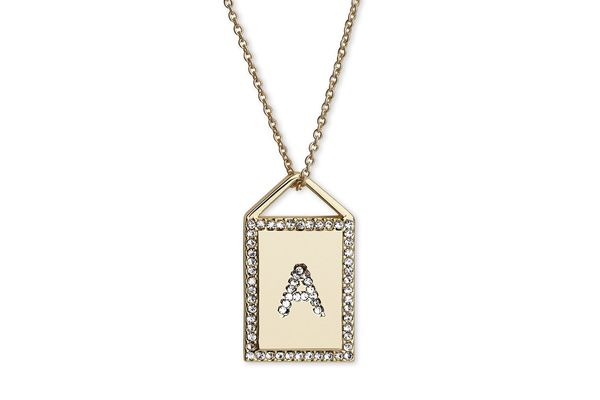 Atziloose Gold Plated Initial Charm Necklace