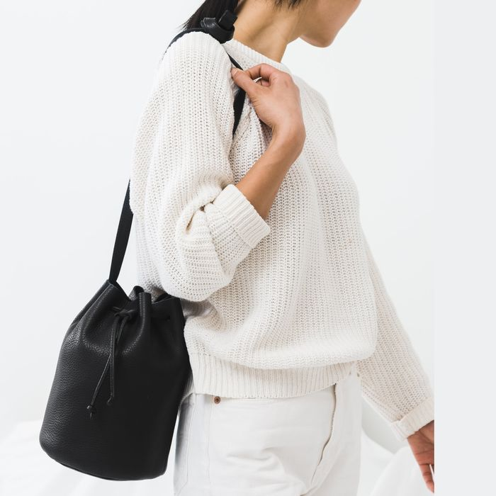 We Ve Never Seen These Baggu Leather Bucket Bags For So