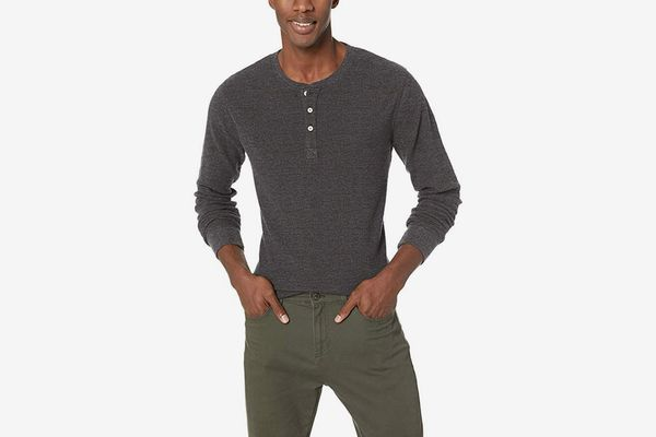 Goodthreads Men's Long-Sleeve Slub Thermal Henley
