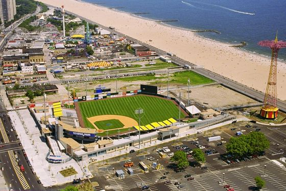 UNITED STATES - JUNE 19:  Keyspan Park, the new stadium of the Brooklyn Cyclones, the Class A minor league affiliate of the New York Mets, at Coney Island.  (Photo by Pat Carroll/NY Daily News Archive via Getty Images)