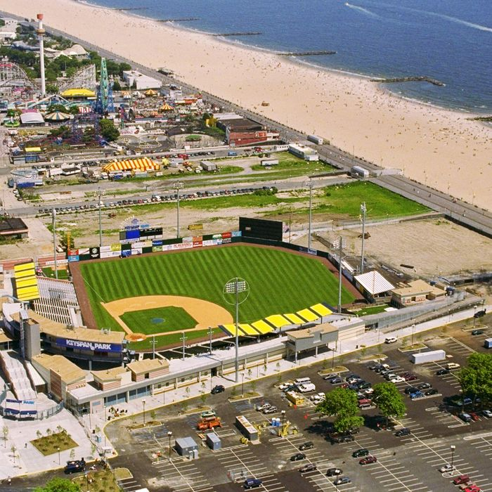 Keyspan Park, the new stadium of the Brooklyn Cyclones, the Class A minor league affiliate of the New York Mets, at Coney Island.