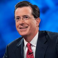 "Host Stephen Colbert appears during the ""Been There: Won That: The Returnification of the American-Do Troopscapeon"" special of The Colbert Report on September 8, 2010 in New York City."