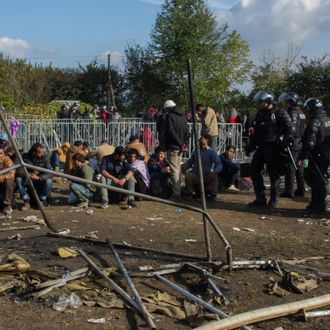 Fire destroys 27 tents at refugee camp in Brezice, Slovenia