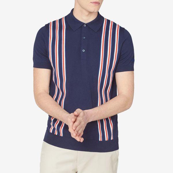 Ben Sherman Team GB Men's Union Stripe Knit Polo