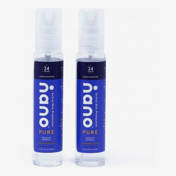 Nano Pure Next Generation Hand Sanitizer & 24-Hour Skin Protectant Spray (Pack of 2)