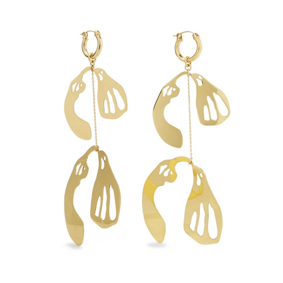 Supercluster gold-plated earrings