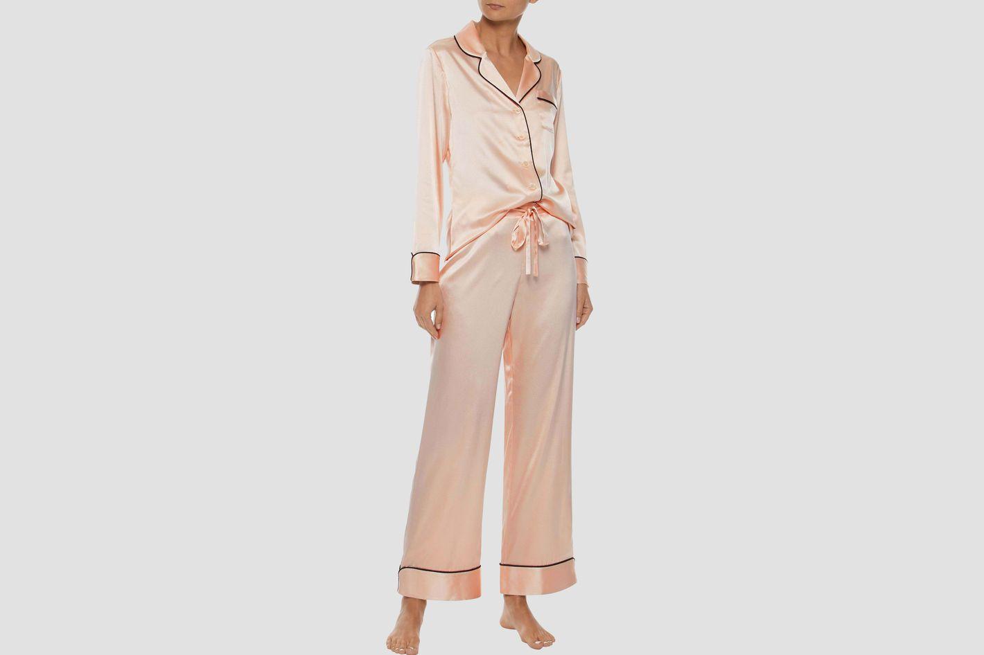 Iris & Ink Mairead Silk-blend Charmeuse Pajama Set