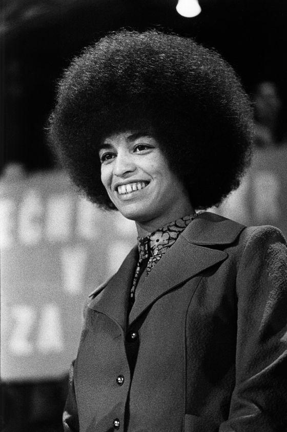 "With Angela Davis leading the charge, the Afro got political during the Black Power and Black is Beautiful movements of the sixties and seventies. But the earliest surviving Afro combs were found in ancient Sudan and Egypt, and date back to 3500 BCE. P.T. Barnum exhibited the (Caucasian) Circassian Beauties with their ""moss hair"" in the 1860s. Celebrated most recently by Oprah on the cover of O, the Afro remains a powerful and personal expression of racial identity."