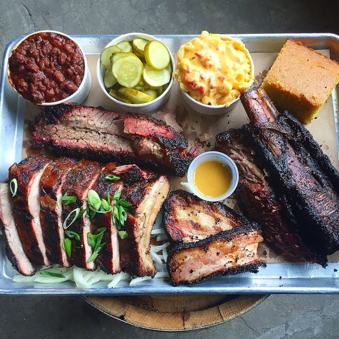 A spread from Hometown Bar-B-Que.