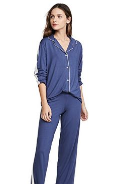 Eberjey Gisele Long Athletic PJ Set