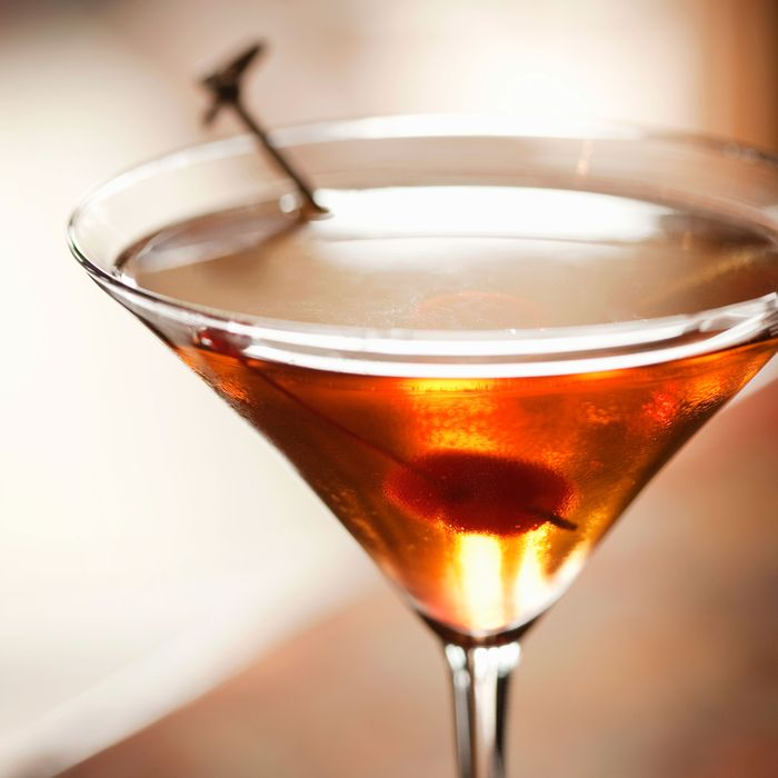 Google says that a chilled glass is nonnegotiable for a Manhattan.