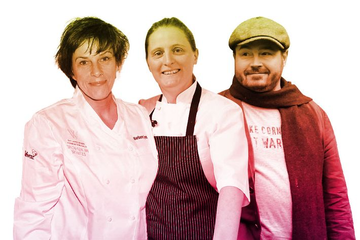 Barbara Lynch, April Bloomfield, and Sean Brock.