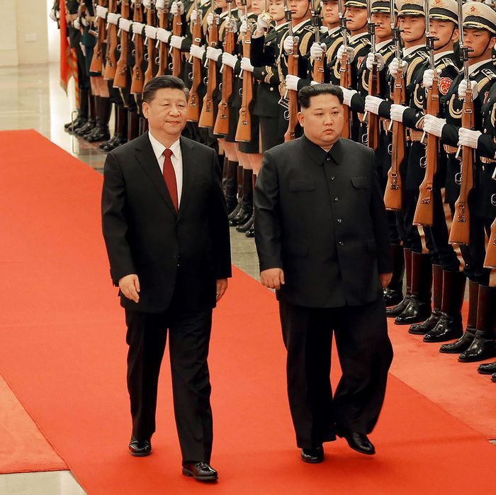 Image result for xi jinping, Kim Jong Un, Great Hall of the people, january 2019, pictures