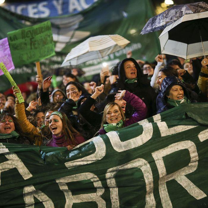 Protestors with Ni Una Menos, an anti-femicide movement.