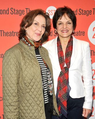 Kelly Bishop and Priscilla Lopez attend the Off-Broadway opening night of