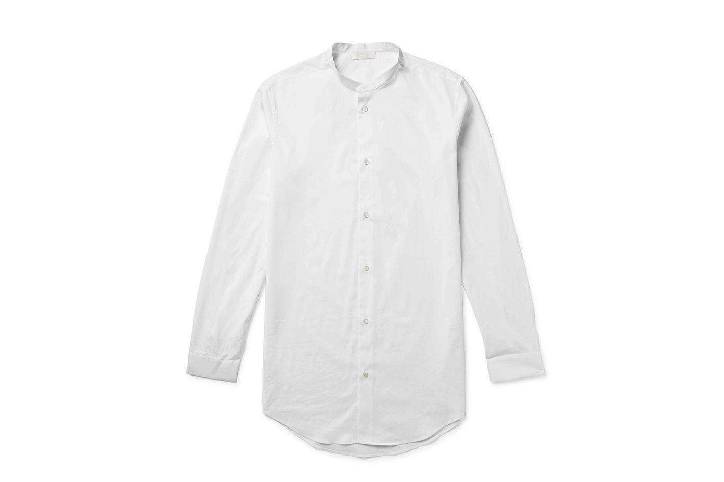 COS Grandad-Collar Cotton-Poplin Shirt