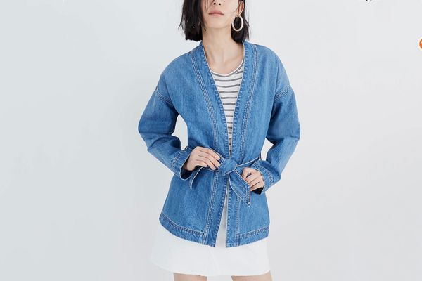Madewell Denim Wrap Jacket