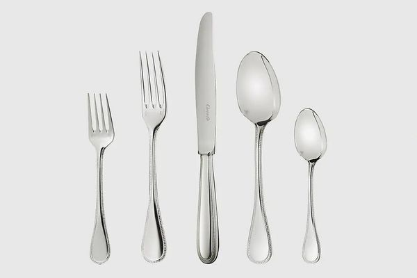 Christofle Perles Silver-Plated 5-Piece Flatware Set