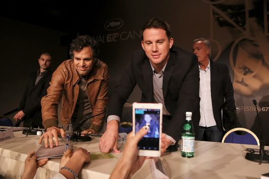 "Actors Mark Ruffalo and Channing Tatum attend the ""Foxcatcher"" press conference during the 67th Annual Cannes Film Festival on May 19, 2014 in Cannes, France."