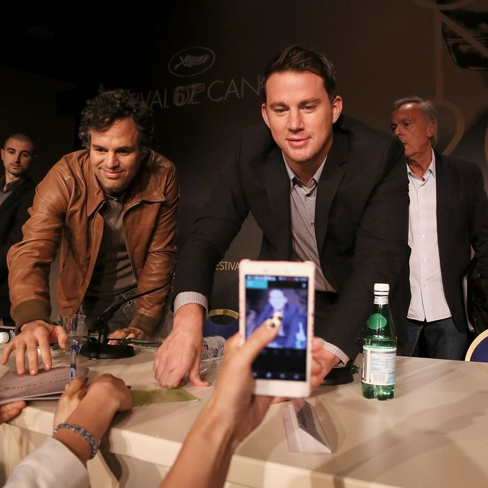 Actors Mark Ruffalo and Channing Tatum attend the