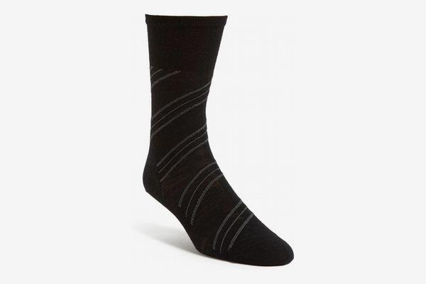Mens 'Barber Pole' Socks, Black