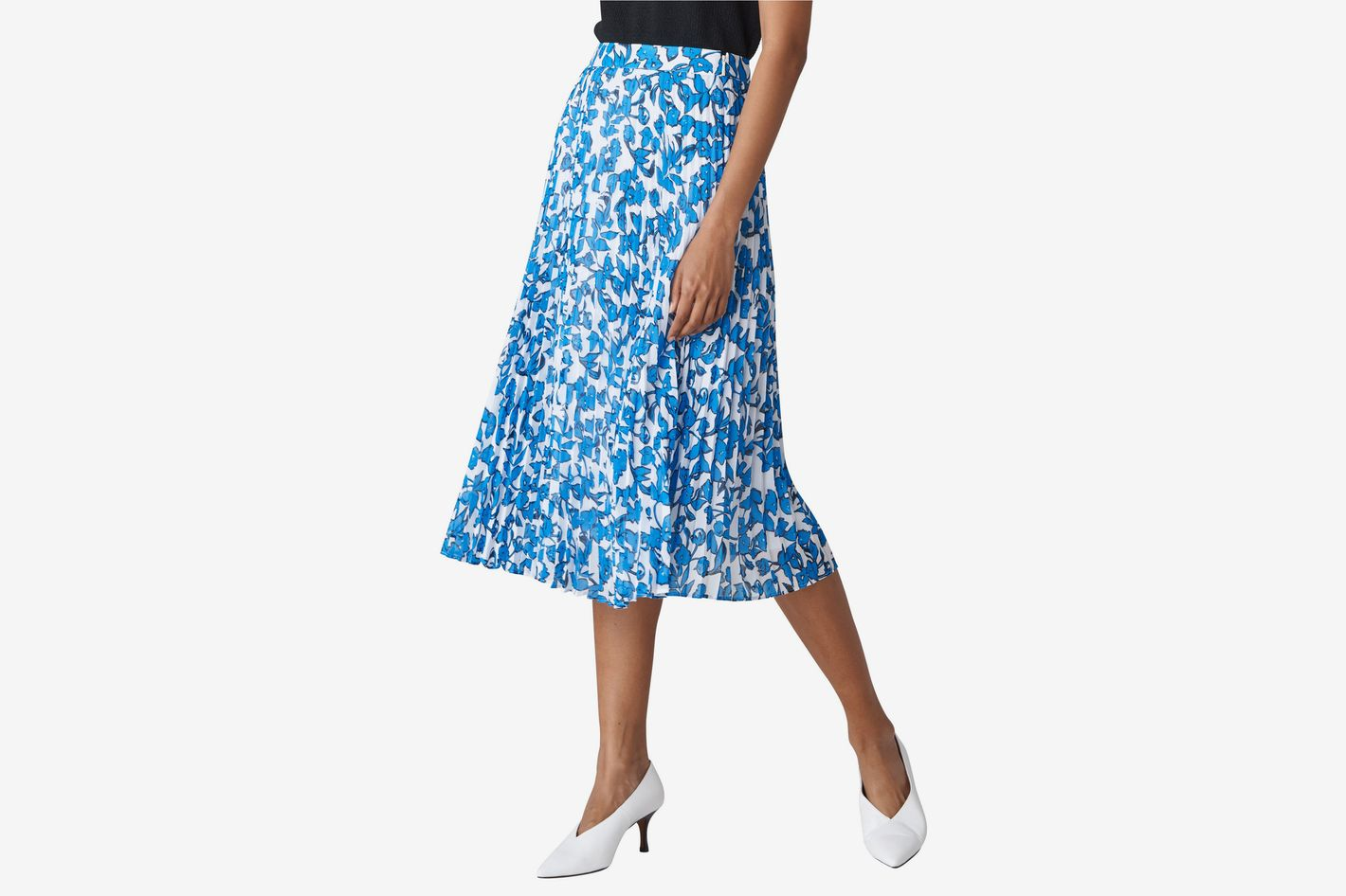 Whistles Cordillia Print Pleated Skirt