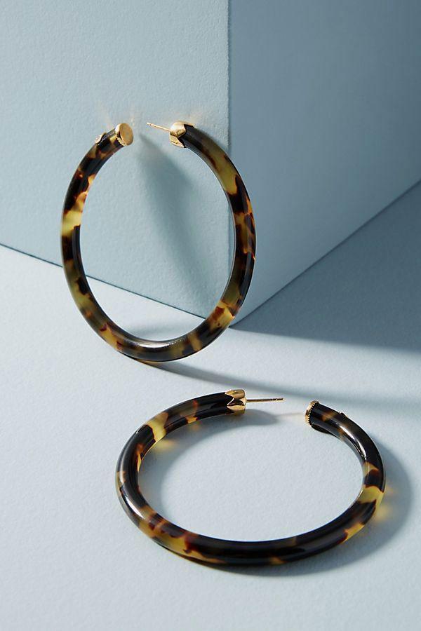 Gas Bijoux Thin Tortoise Hoop Earrings
