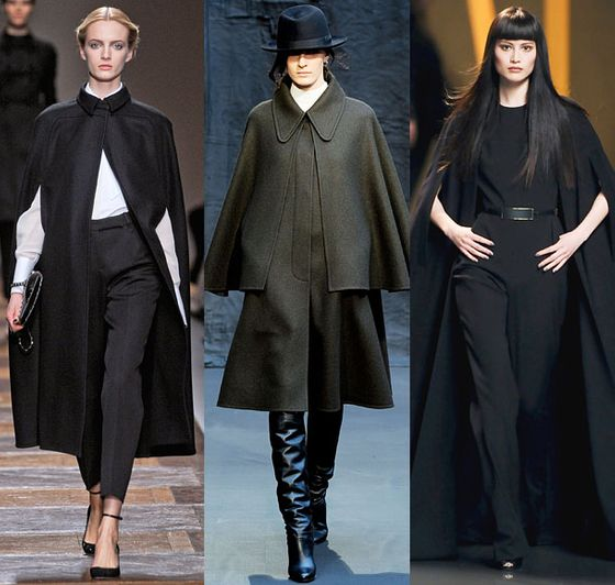 """There were a lot of great capes this week, but Valentino's was a standout.""  <b>Must-have</b>: Valentino cape (left)"