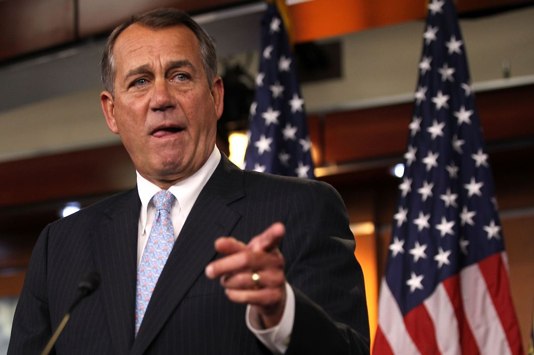 U.S. Speaker of the House Rep. John Boehner (R-OH) speaks during a news briefing March 29, 2012 on Capitol Hill in Washington, DC. Boehner said he will have enough votes to pass the budget proposal by Rep. Paul Ryan (R-WI).