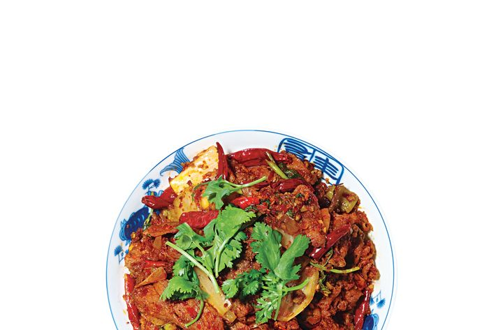 Café China's spicy cumin lamb.