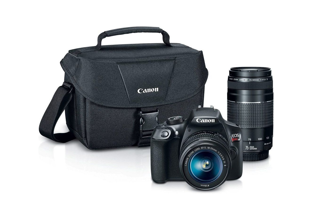 Canon EOS Rebel T6 Digital SLR Camera Kit With EF-S 18-55mm and EF 75-300mm Zoom Lenses