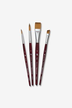 Princeton Velvetouch Series 3950 Synthetic Brushes, Set of 4