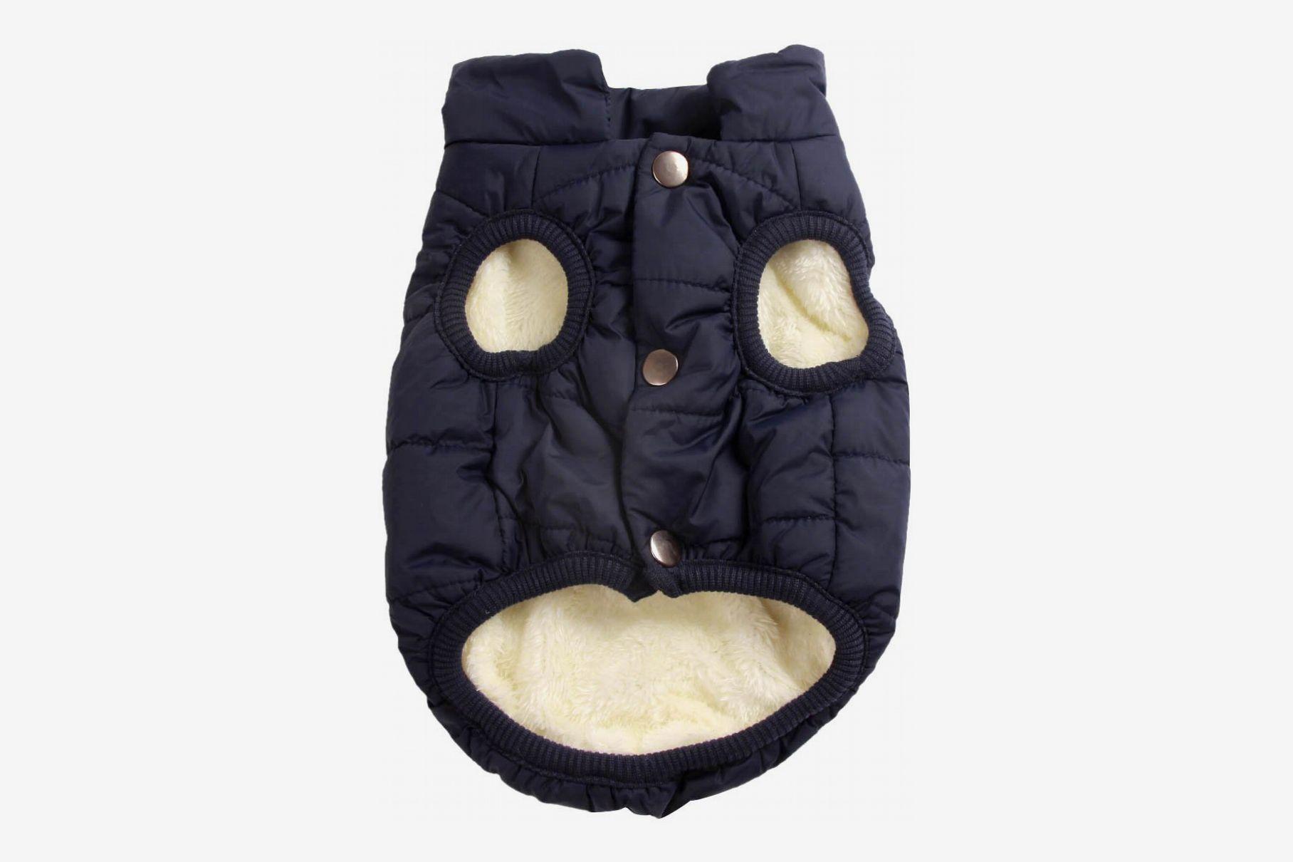 JoyDaog 2 Layers Fleece Lined Warm Dog Jacket
