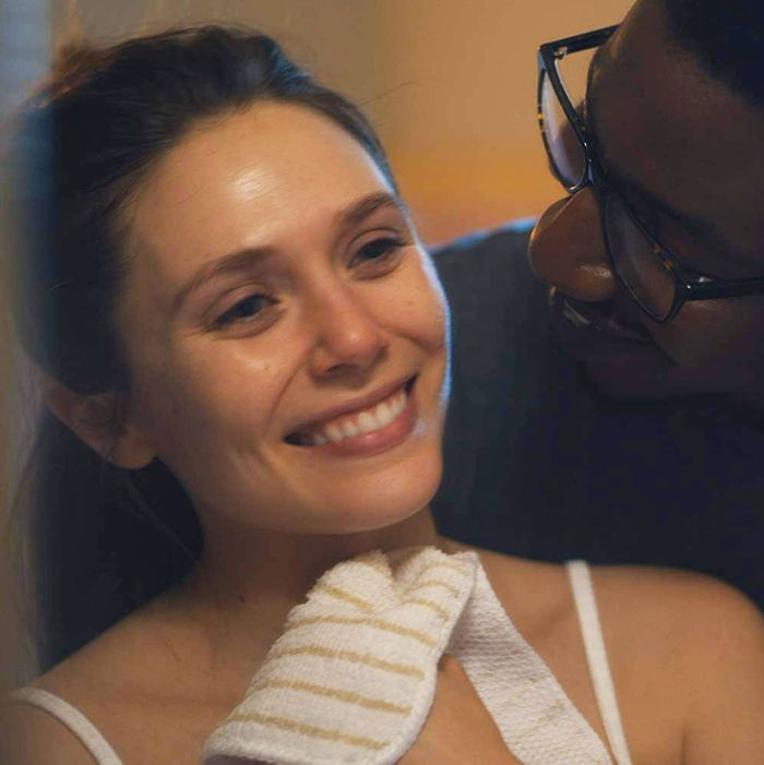 Elizabeth Olsen and Mamoudou Athie in Sorry for Your Loss.