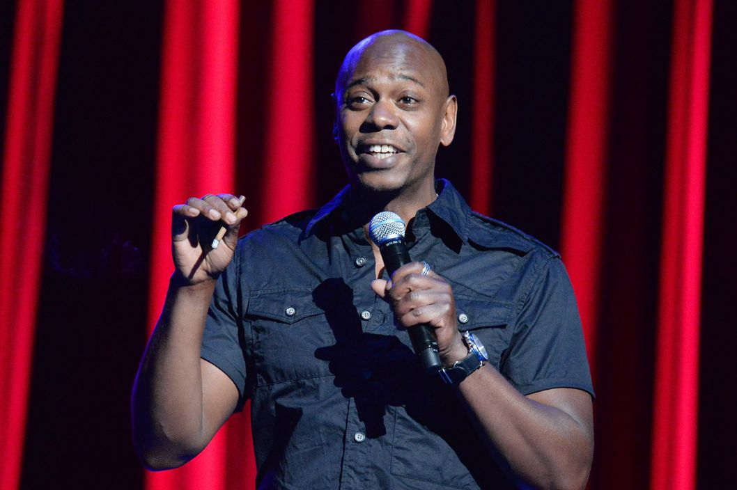 NEW YORK, NY - JUNE 18:  Dave Chappelle performs onstage at Radio City Music Hall on June 18, 2014 in New York City.  (Photo by Kevin Mazur/WireImage)