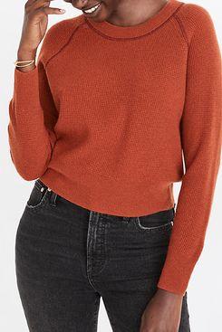 Madewell Cashmere Shrunken Sweatshirt