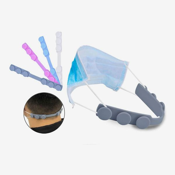 EVGLOW Silicone Ear Strap for Masks, Pack of 4