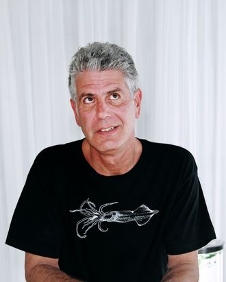 MIAMI BEACH, FL - FEBRUARY 27: Anthony Bourdain attends the Whole Foods Market Grand Tasting Village during the 2011 South Beach Wine and Food Festival on February 27, 2011 in Miami Beach, Florida. (Photo by Alexander Tamargo/Getty Images) *** Local Caption *** Anthony Bourdain