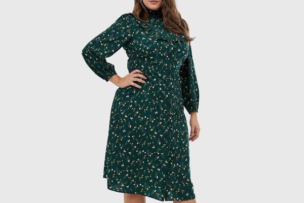 Fashion Union Plus Floral Midi Shirtdress
