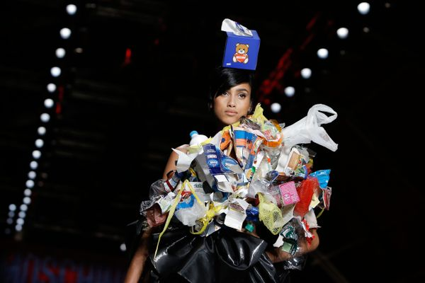 Moschino Brings Us Garbage Couture for a Garbage World