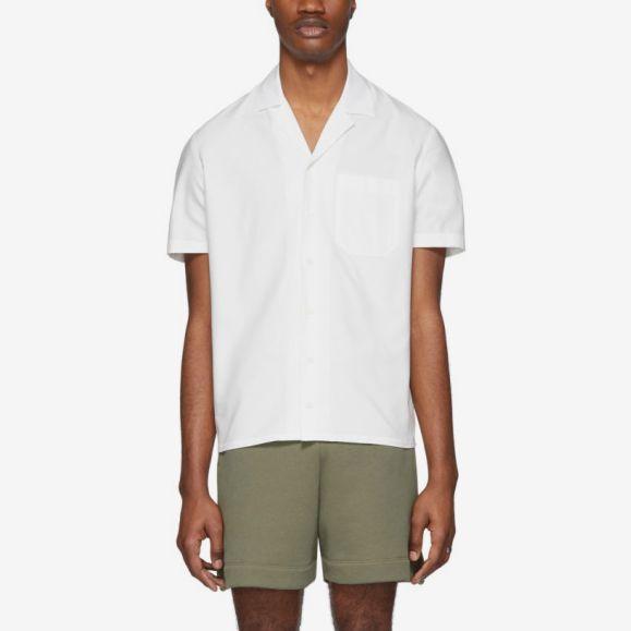 Eidos White Pocket Short Sleeve Shirt