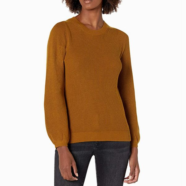 Lark & Ro Balloon Sleeve Sweater