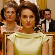"""Caspar Phillipson as """"John Fitzgerald Kennedy,"""" Natalie Portman as """"Jackie Kennedy"""" and Peter Sarsgaard as """"Bobby Kennedy"""" in JACKIE. Photo by Pablo Larrain. © 2016 Twentieth Century Fox Film Corporation All Rights Reserved"""